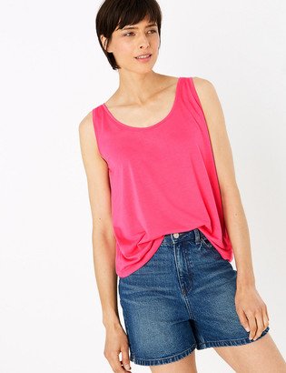 Marks and Spencer Scoop Neck Relaxed Vest Top