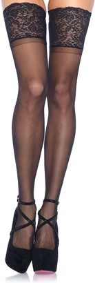 Leg Avenue Women's Plus Size Plus Size Stay-Up Lace Band Top Thigh Highs