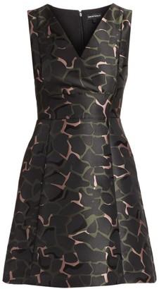 Emporio Armani Sleeveless Camo Jacquard Dress