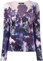 Roberto Cavalli floral print V-neck cardigan