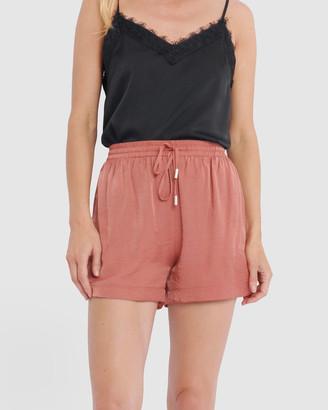 Forcast Rita Drawstring Shorts