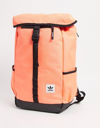 adidas Premium Essentials Top Loader backpack in signal coral