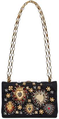 Dolce & Gabbana Floral Embellished Shoulder Bag