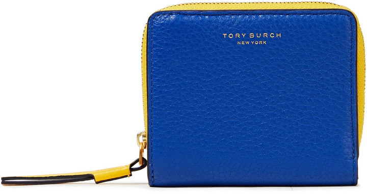 Tory Burch Perry Color-block Textured-leather Wallet