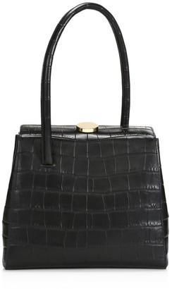 Little Liffner Madame Croc-Embossed Leather Top Handle Bag