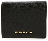 MICHAEL Michael Kors Women's Mercer Leather Rfid Card Holder - Black