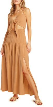 Willow Julie Halter Crop Top Two-Piece Maxi Dress