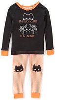 Komar Kids Little/Big Girls 2T-10 Halloween Cute Spider Tee & Striped Pants Pajama Set