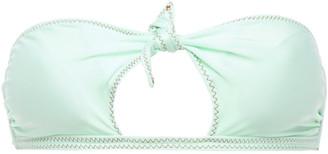 Vix Paula Hermanny Cutout Knotted Bandeau Bikini Top
