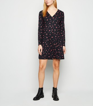 New Look Rose Soft Touch Button Up Dress