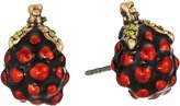 Marc Jacobs Women's Raspberry Studs Earrings Earring