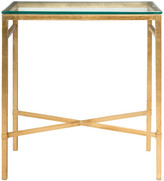 Safavieh Viggo Antique Gold Glass Side Table