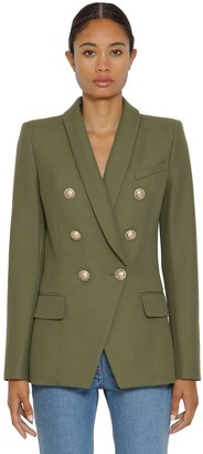 Balmain DOUBLE BREASTED GRAIN DE POUDRE JACKET