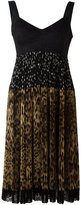 Dolce & Gabbana pleated skirt dress - women - Polyester/Polyamide/Cotton/Spandex/Elastane - 38