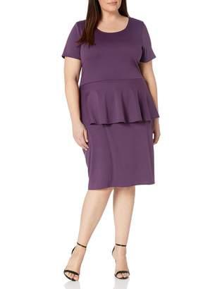 Star Vixen Women's SS Classic STR Peplum Dress