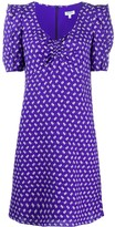 Kenzo ruffle-shoulder geometric dress