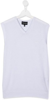 Emporio Armani Kids TEEN V-neck tank top
