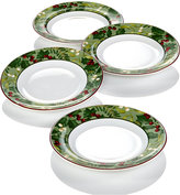 222 Fifth Christmas Foliage 4-Pc. Appetizer Plate Set