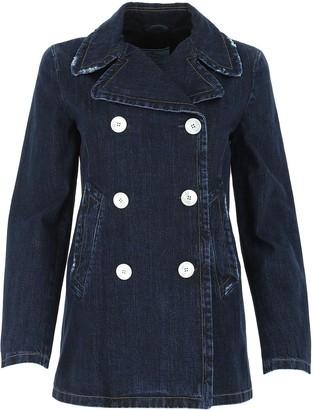 Prada Double-Breasted Denim Coat