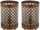 Safavieh Bordern 11.5 in. Gold Uplight Lamp with Clear Shade (Set of 2)