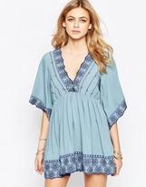 Hazel Embroidered V-Neck Dress