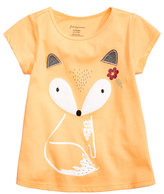 First Impressions Fox-Print T-Shirt, Baby Girls (0-24 months), Created for Macy's