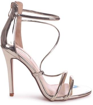 Linzi CORINNA - Gold Metallic Strappy Caged Stiletto Heel With Ankle Strap