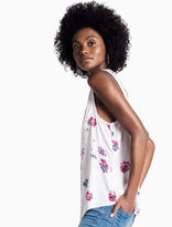 Lucky Brand Floral V Button Up Tank