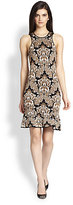 Torn By Ronny Kobo Gemma Baroque-Print Sweater Dress