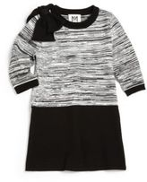 Milly Minis Girl's Space-Dyed Bow Sweaterdess