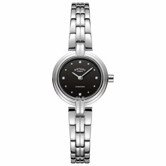 Rotary Womens Analogue Classic Quartz Watch with Stainless Steel Strap LB00410/15