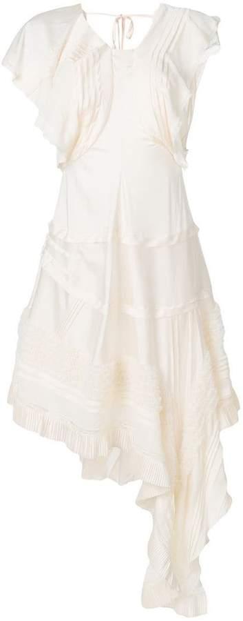 Chloé asymmetric lace-trimmed dress