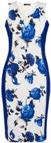 Dorothy Perkins *Quiz Blue Floral Panel Dress