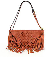 Elliott Lucca Fringed Macrame Convertible Demi Clutch