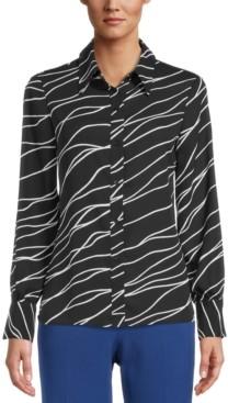 Bar III Printed Blouse, Created for Macy's