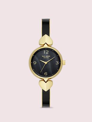 Kate Spade Hollis Black Enamel Stainless Steel Bangle Watch