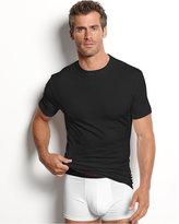 Alfani Men's Underwear, Cotton Spandex Tagless Slim Fit Crew Neck T Shirt 2 Pack