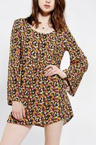 Babydoll Urban Renewal Blossom Bell-Sleeve Dress