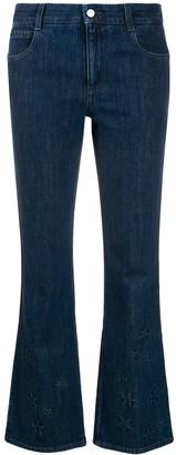 Stella McCartney star-embossed kick-flare jeans