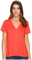 Lilla P Short Sleeve V-Neck Women's Clothing
