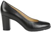 Geox Annya Block Heeled Court Shoes, Black