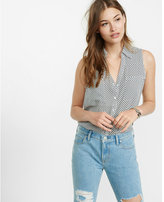 Express original fit dot print sleeveless portofino shirt