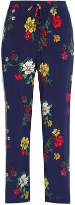 Joie Floral-print Silk Crepe De Chine Straight-leg Pants