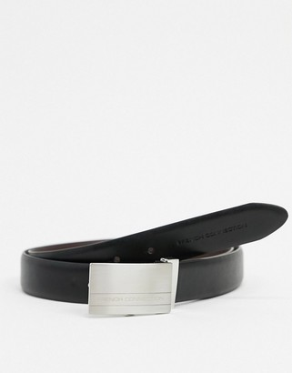 French Connection reversible plaque leather belt
