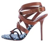Louis Vuitton Embellished Ankle Strap Sandals