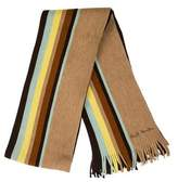 Paul Smith Striped Fringe-Trimmed Scarf