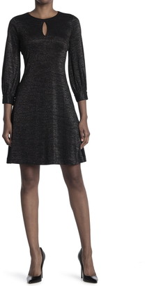 Calvin Klein Glitter Keyhole Jersey Dress