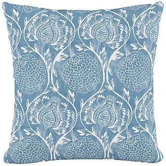 One Kings Lane Ranait Pillow - French Blue