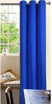 Blue Microfibre Eyelet Curtain Set