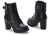 Buckled Shoelace Short Boots
